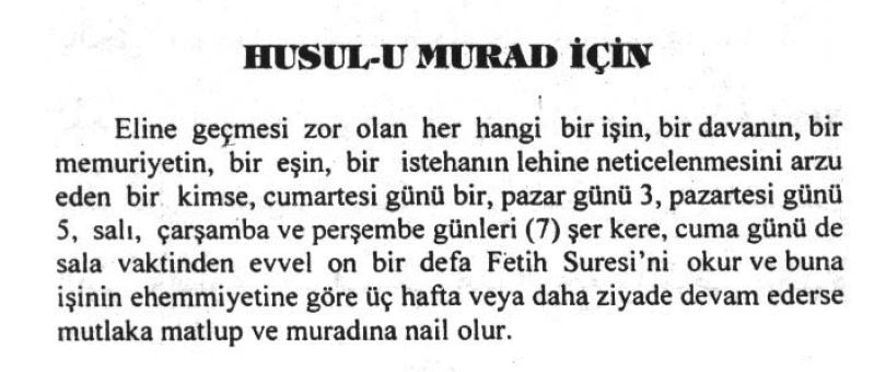 HUSUL-U MURAD (Murada Nail Olma)