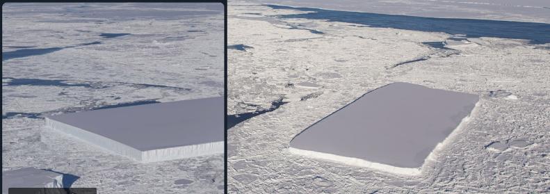 Antarktikada masa şeklinde gizemli bir buz dağı bulundu!