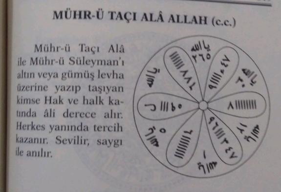 Mührü Taçı Ala Allah (c.c.)