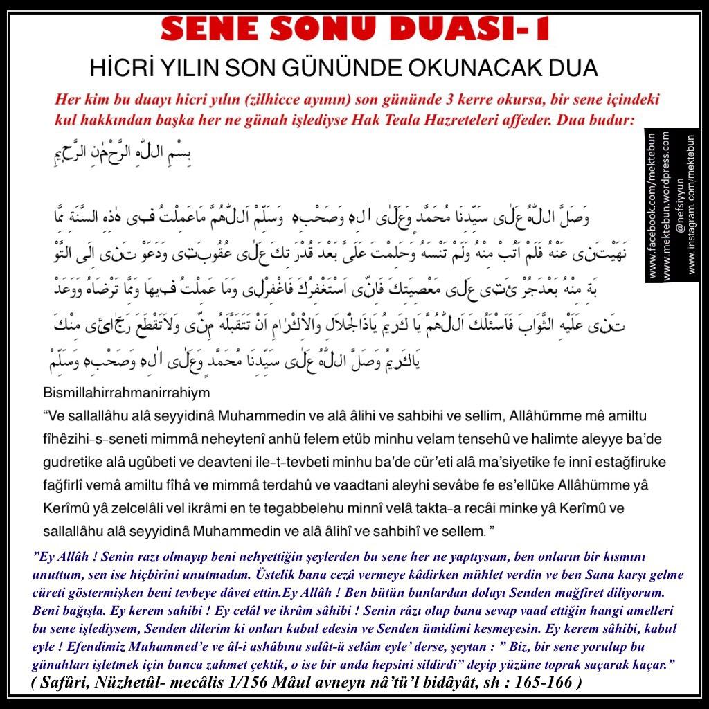 Hicri Yıl Sonu Duası ve Namazları