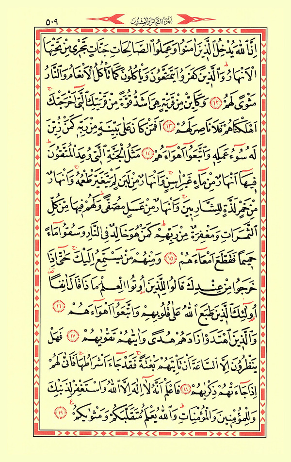 Muhammed Suresi Sesli Dinle ve Oku
