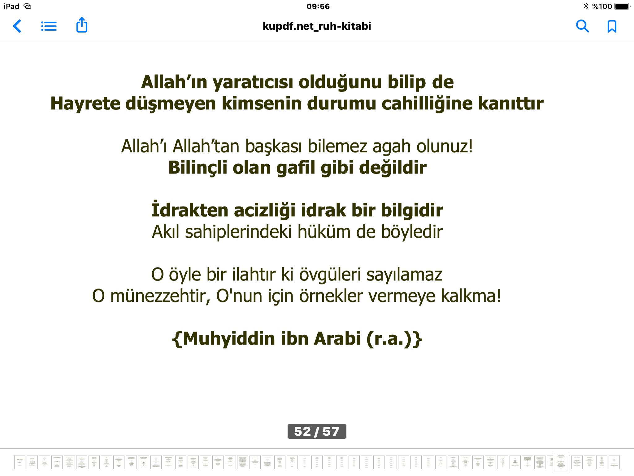 Allah'ı bilmek