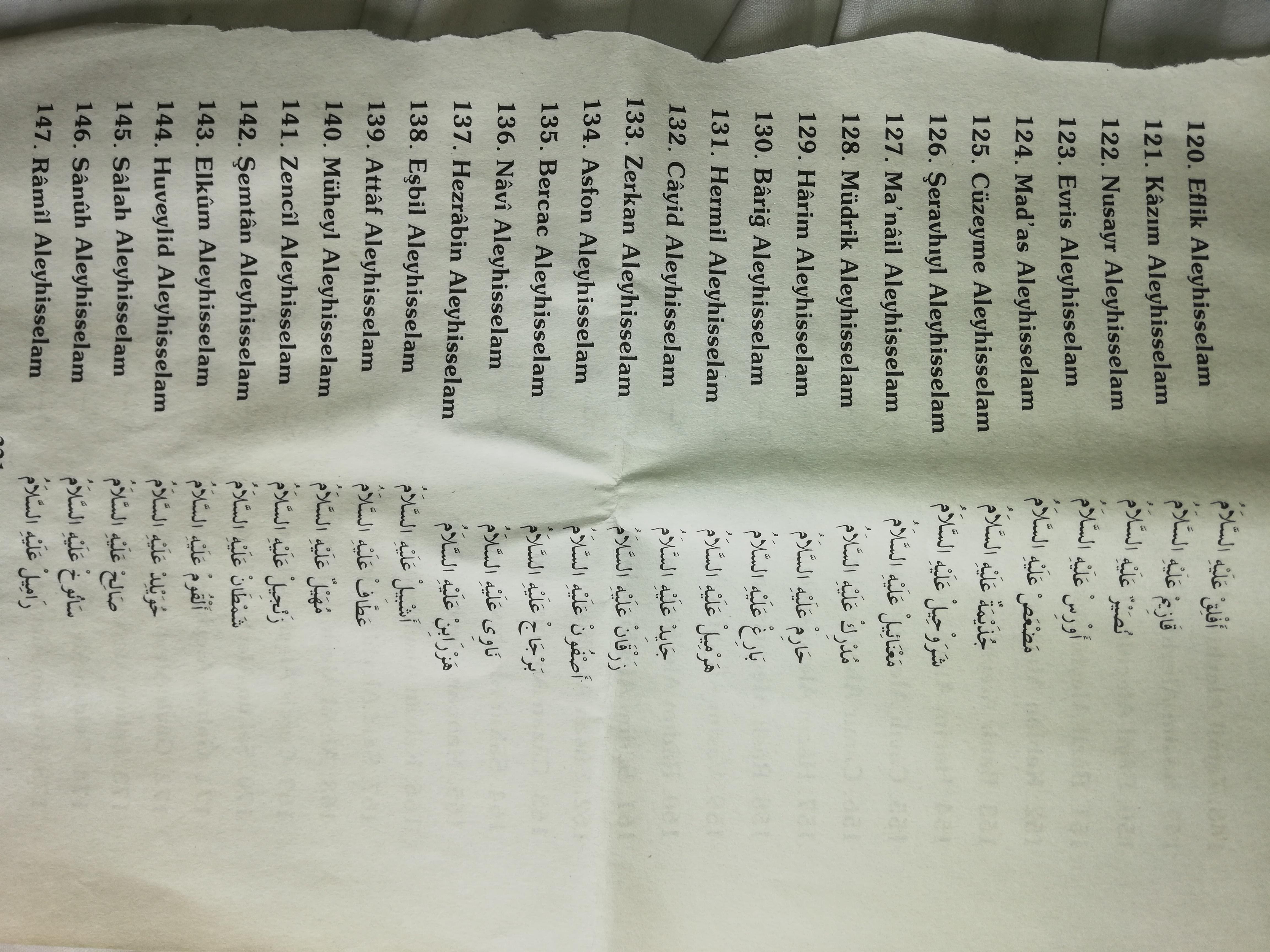 313 mürsel peygamberlerin tam listesi ve onların yardımı